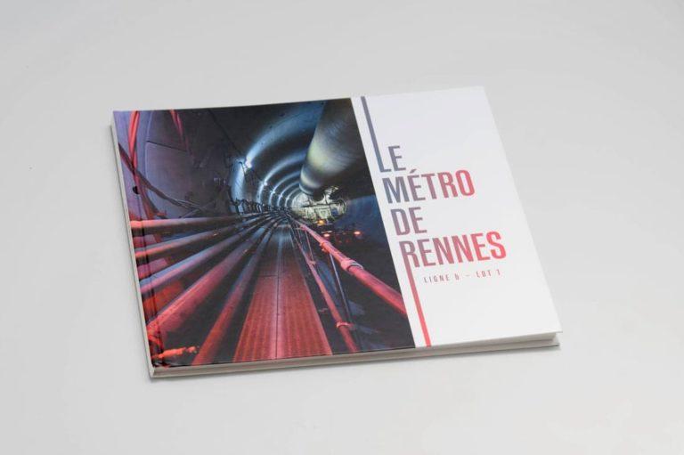 Livre chantier le métro de Rennes pour Dodin Campenon Bernard