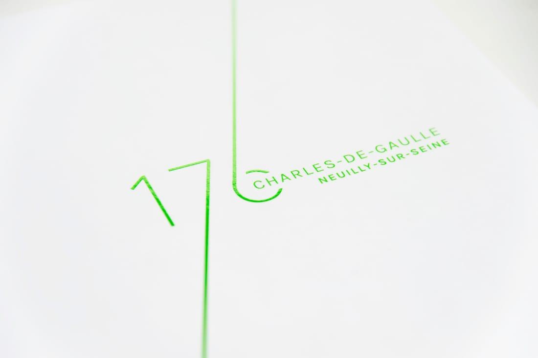 SFL 176 CDG logo impression fluo vert