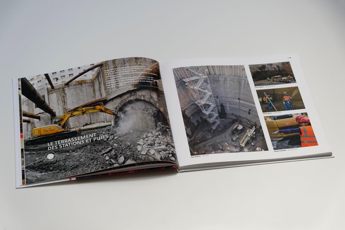 Livre chantier le métro de Rennes pour Dodin Campenon Bernard - pages intérieures 4