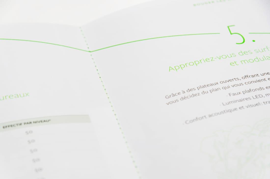 SFL 176 CDG - détail couture fluo verte
