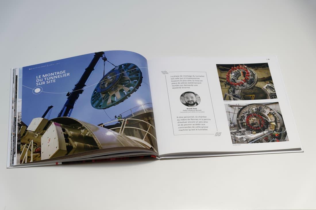 Livre chantier le métro de Rennes pour Dodin Campenon Bernard - pages intérieures 2