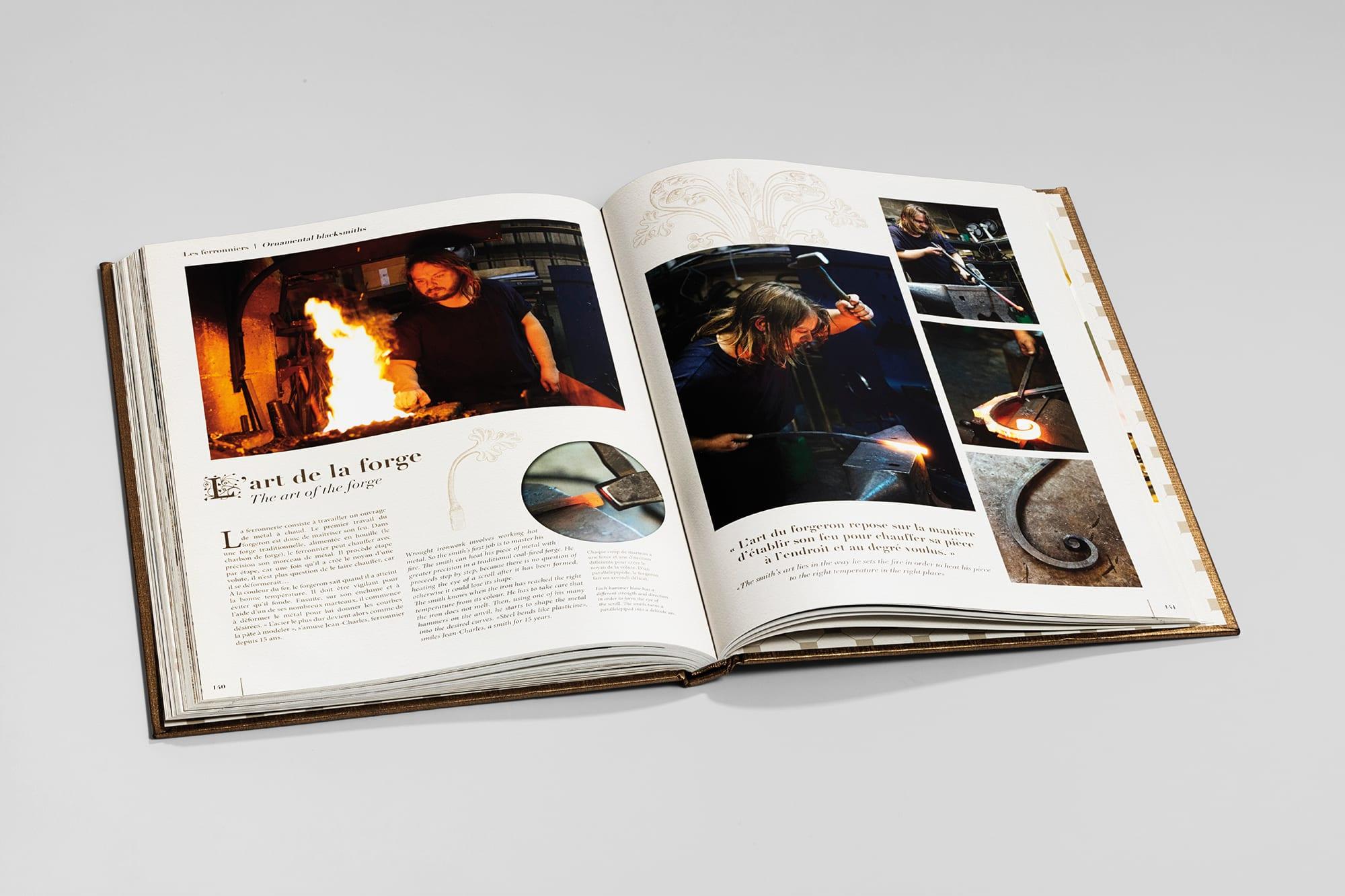 Livre Arts des métiers - page double intérieure