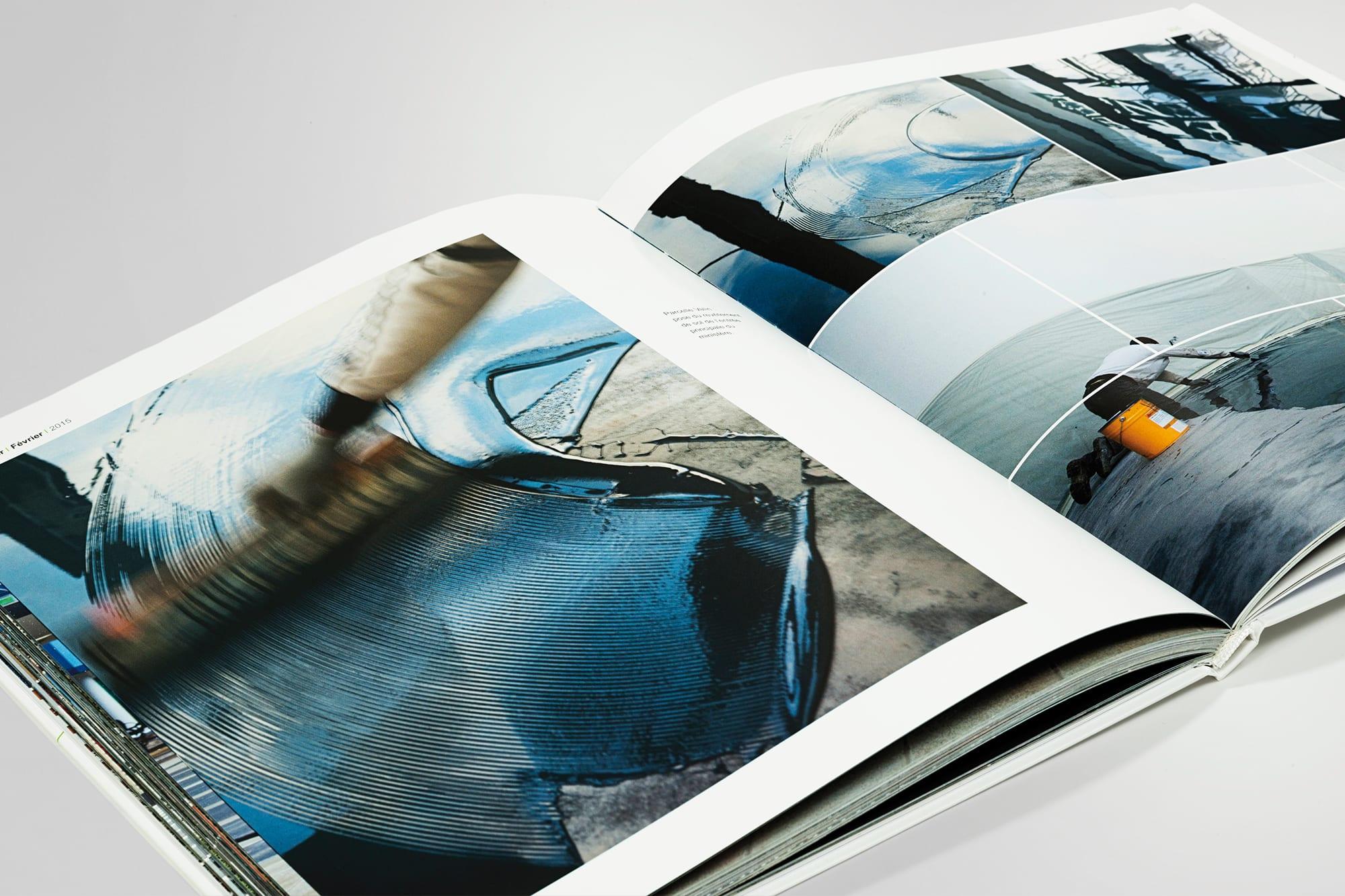 BALARD Double page photo trace noire