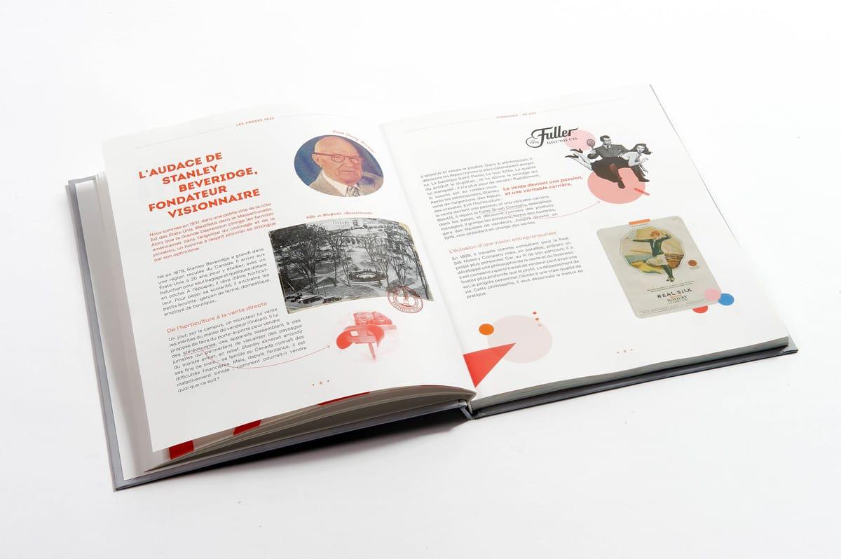 livre 90 ans Stanhome double texte historique