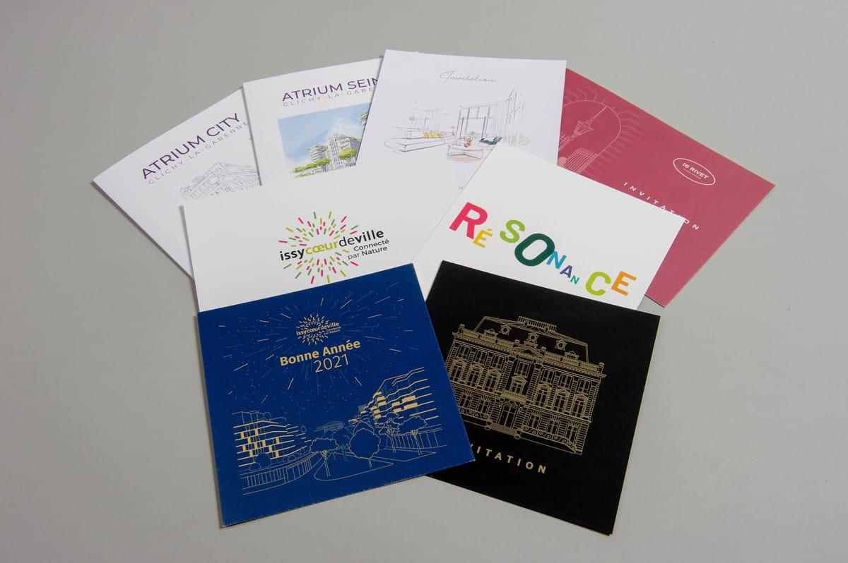 Patwork invitation et carte de voeux cogedim