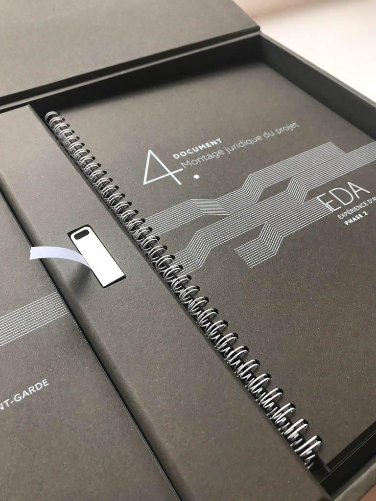 appels d'offres coffret cahier et cle USB